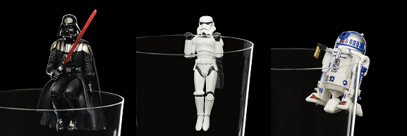 Star Wars cup clingers may or may not use the Force to hang on the rim of your glass
