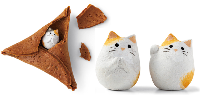 Step aside, fortune cookies! Here come fortune cat rice crackers from Japan!