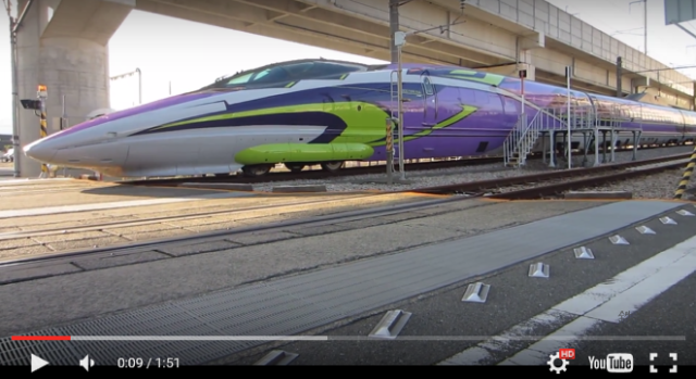 Get in the bullet train, Shinji! The Evangelion Shinkansen is here 【Videos】