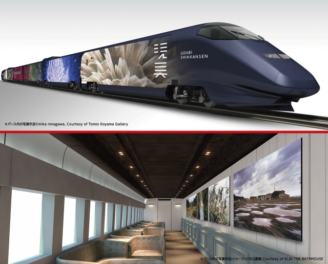 Japan's newest Shinkansen is world's fastest gallery, packed with contemporary art inside and out