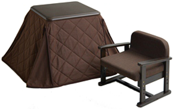 Japanese brand comes out with a comfy-looking kotatsu made for one