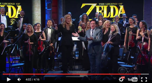 Zelda orchestra provides legendary performance of series' music on Stephen Colbert's Late Show