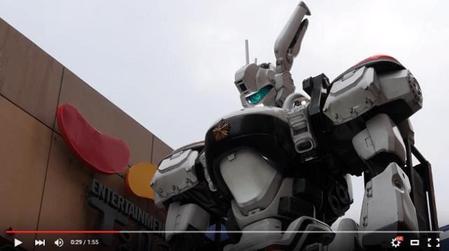 Patlabor AV-98 Ingram anime mecha arrives in Niigata, residents welcome their giant robo-cop