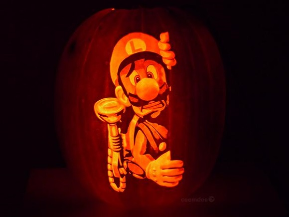 'Tis the season for orange, candy, and amazing Nintendo pumpkin carvings
