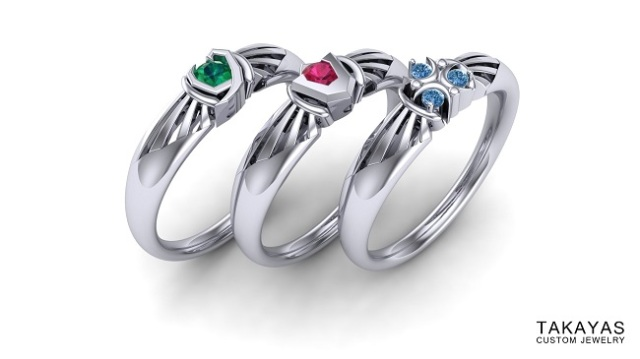 The Legend of Zelda's three spiritual stones appear in new line of engagement rings from Takayas