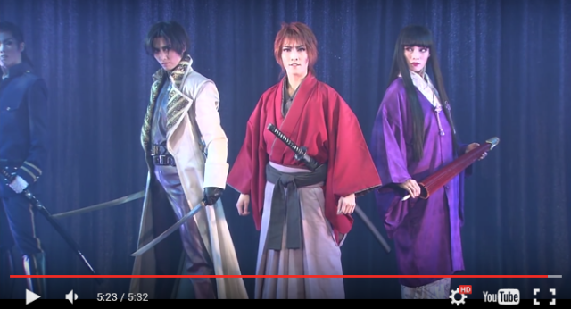 Can't make it to the Rurouni Kenshin musical in Japan? Preview video gives a taste of the action