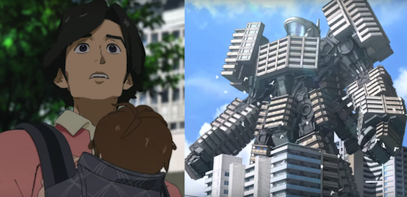 Buildings transform into giant robots in Japanese real estate company's anime commercial【Video】