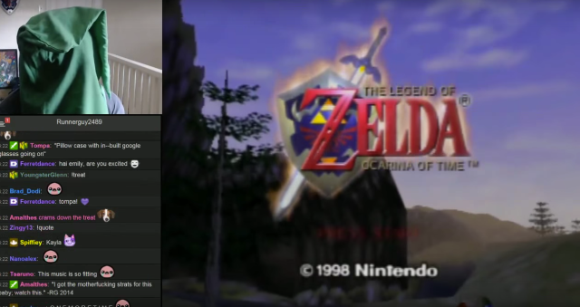 Gamer completes 'The Legend of Zelda: Ocarina of Time' blindfolded