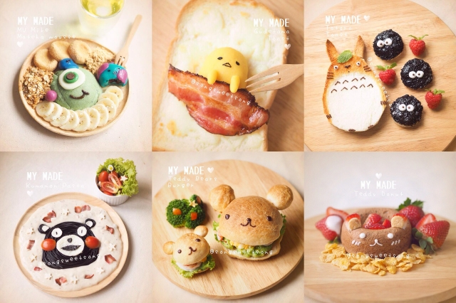 Breakfast never looked cuter! Character toast, pancakes, doughnuts, burgers and more!【Pics】