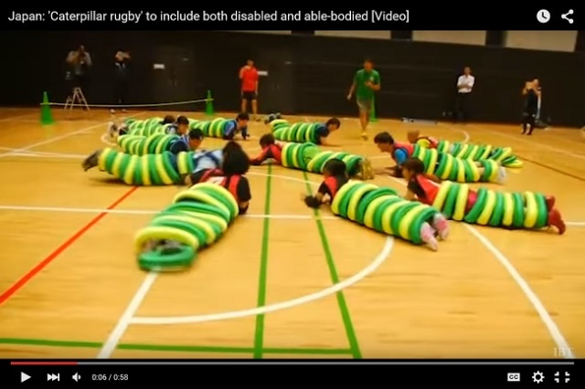 """""""Caterpillar Rugby"""" aims to level the playing field for people with and without disabilities"""