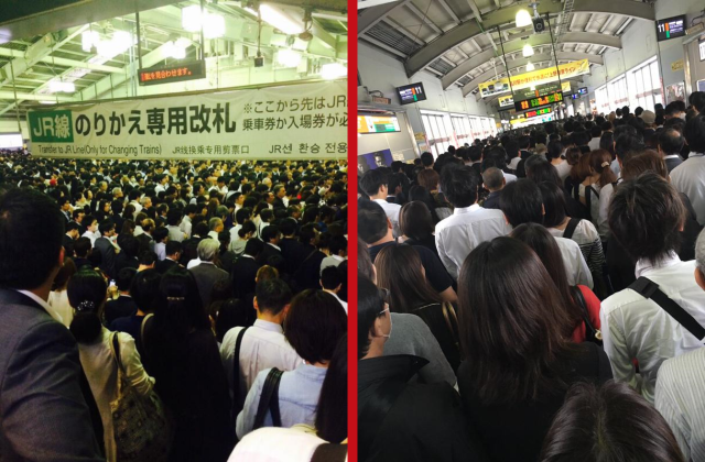 Here's what happens when the trains shut down in Tokyo during rush hour: Craziness 【Photos】