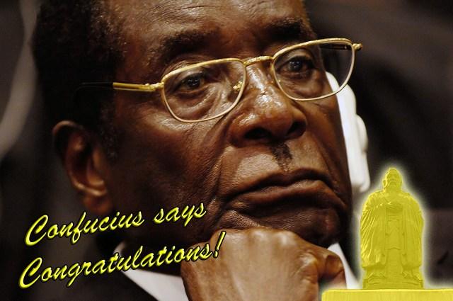 Zimbabwe President Robert Mugabe wins China's Confucius Peace Prize