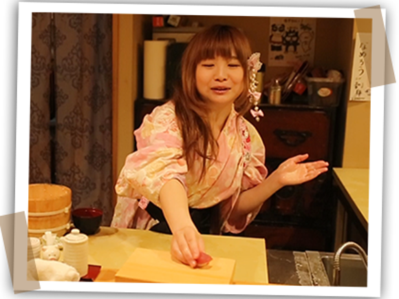 Nadeshico Sushi restaurant challenges gender roles with all-female staff clad in kimono