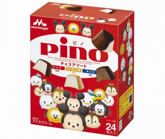 Play an edible Tsum Tsum mobile game with individually wrapped Pino ice creams!