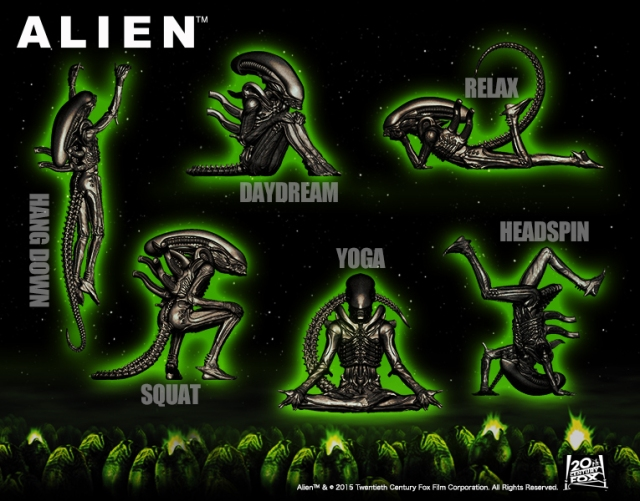New Alien mini figurine set shows Big Chap breakdancing, daydreaming and practicing yoga