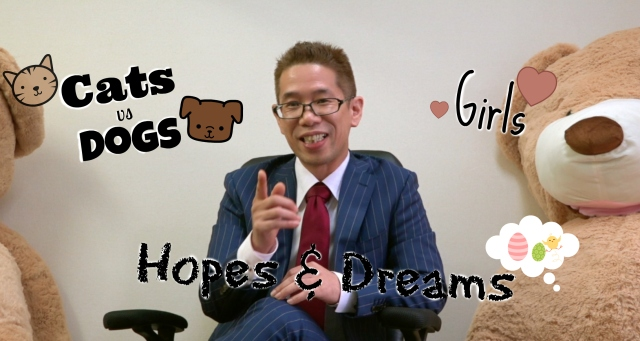 Ask Mr. Sato Episode 1 – Love, Dreams, Cats vs Dogs【Video】