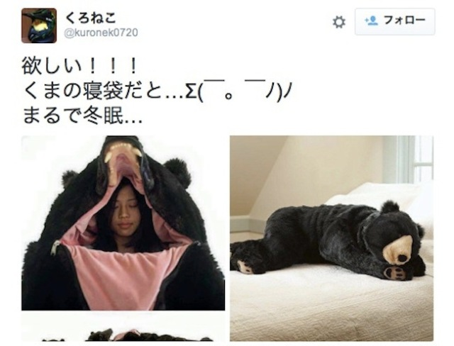 A $2,350 sleeping bag/bear? Japanese artist's wild creation hits Japanese Twitter with a roar!
