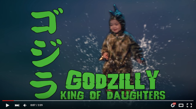 Director dad displays dastardly deeds of dino daughter with cool special effects【Video】