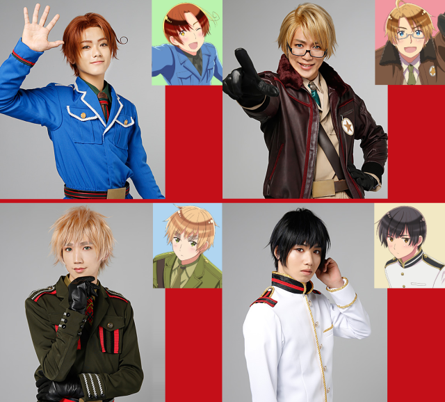 Nations-as-pretty-boys anime Hetalia's live-action cast appears in costume 【Photos】
