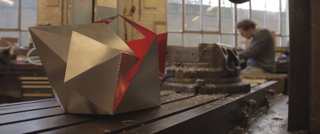 "New origami-style lamp re-invents the way we think about ""do it yourself"""