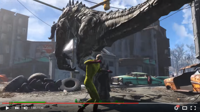 Anime's One-Punch Man is punching his way through Bethesda's Fallout 4