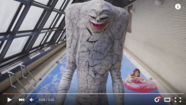 So a bikini model and a kaiju walk into Japan's most famous porn location…to sell toys 【Video】