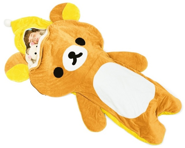 Keep warm this winter with a new fluffy Rilakkuma sleeping bag
