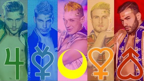 Muscly Italian men perform Sailor Moon music video, complete with senshi transformations【Video】