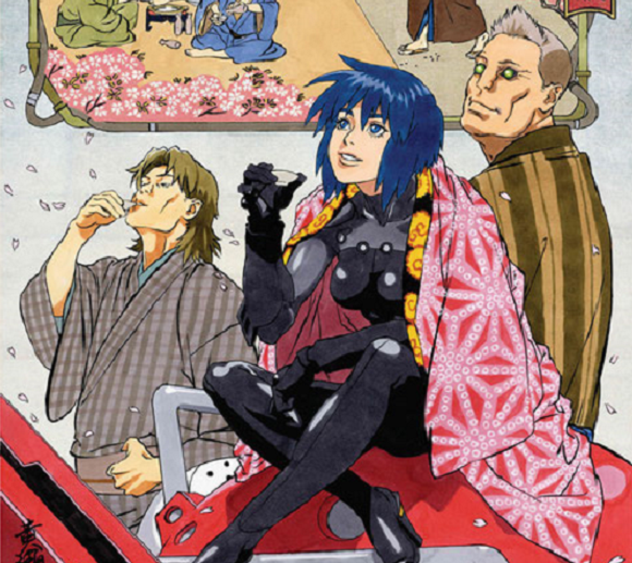 The newest Ghost in the Shell ukiyo-e print is available for pre-order and looking beautiful