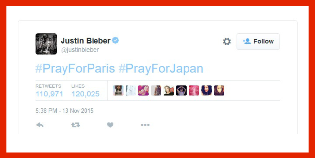 Japan surprised to find Justin Bieber and world praying for them