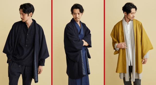 Japanese fashion company's modernized haori half coats will keep you warm and samurai chic