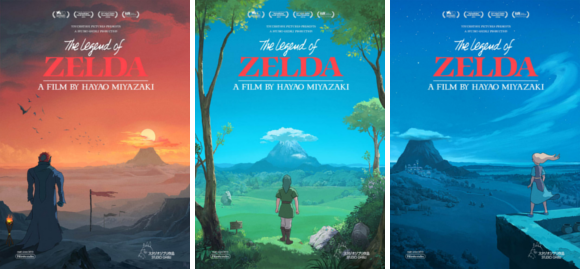 Tumblr artist designs Legend of Zelda movie posters in Studio Ghibli style