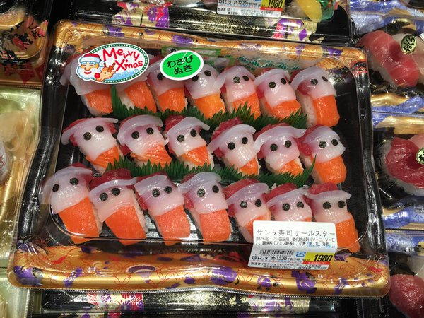 Santa sushi spotted in Japan, is here to deliver sackloads of deliciousness