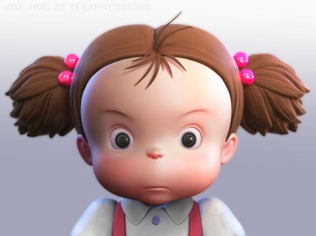 What Hayao Miyazaki's Mei would look like if Studio Ghibli released My Neighbor Totoro in 3-D