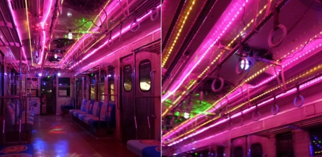 Chiba railway cars' Christmas lights are more lap dance than Lapland, say Japanese netizens【Pics】