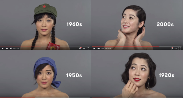 Watch a century of Chinese beauty trends in less than a minute【Video】
