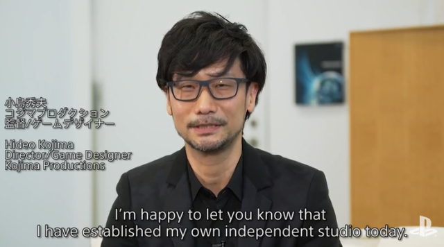 Hideo Kojima officially leaves Konami, opens own studio, announces new PlayStation 4 game 【Video】