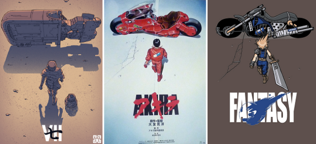 Parody of Akira movie poster makes pretty much any character look as cool as Kaneda【Art】