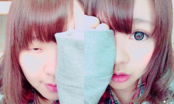 Japanese cosmetic artist posts photo with only half her face made up, internet freaks out【Pics】