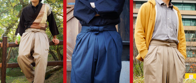 Japanese fashion company brings modern-day samurai look to your legs with hakama chino pants