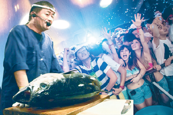 Upcoming party in Shibuya combines house music with cutting open a tuna, girls get in free