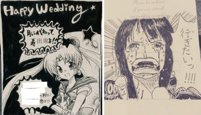 Creative drawings to reply to wedding invites are all the rage in Japan right now 【Photos】