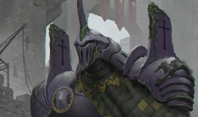 Evangelion Unit-01 looks perfect reimagined as a knight in medieval Europe