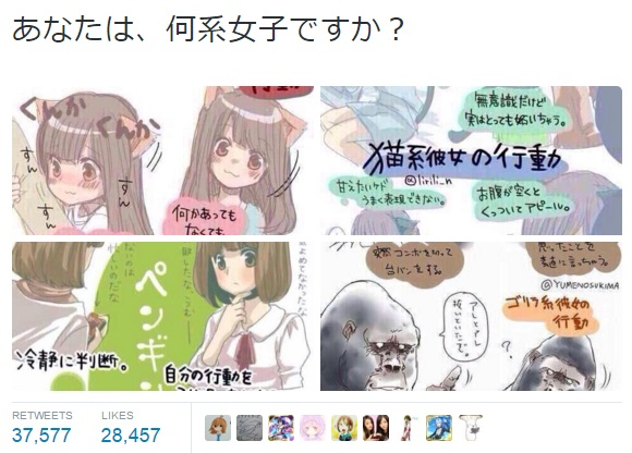 Is your girlfriend a cat, dog, gorilla or penguin type? Take this Twitter comic test to find out!