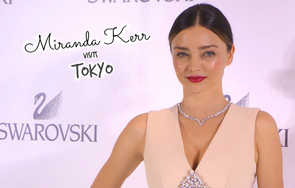 Miranda Kerr promotes new jewellery line, lights up a Christmas tree and leaves her mark on Tokyo