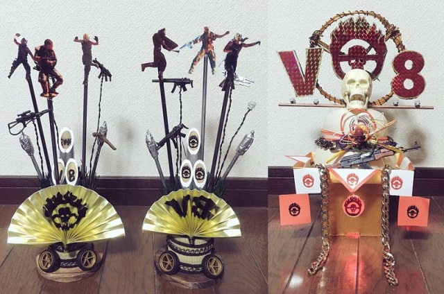 Traditional Japanese New Year's decorations with a Mad Max theme? WHAT A LOVELY DAY!