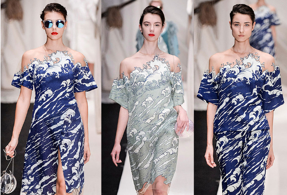Wearable waves: Russian designer creates garments inspired by Hokusai woodblock prints