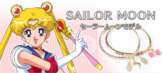 Paired Sailor Moon bracelets are femininely eye-catching and represent all 10 Sailor Senshi