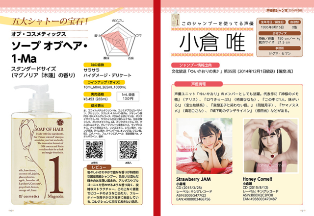 New book compiles taste tests of shampoos used by 30 of Japan's top anime voice actresses