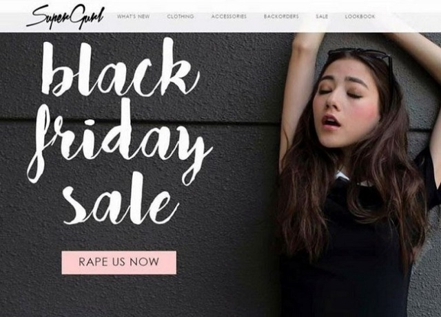 "Singapore retailer a contender for ""Worst Ad Campaign Ever"" title after Black Friday rape gaffe"